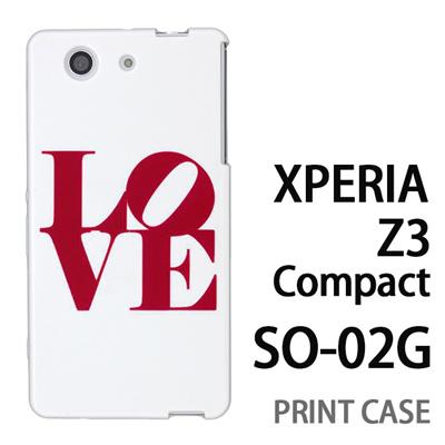 XPERIA Z3 Compact SO-02G 用『0621 love レッド』特殊印刷ケース【 xperia z3 compact so-02g so02g SO02G xperiaz3 エクスペリア エクスペリアz3 コンパクト docomo ケース プリント カバー スマホケース スマホカバー】の画像