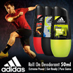 Set of 3 ► ADIDAS ► Roll On Deodorant 50ml ► Extreme Power ► Get Ready ► Pure Game ► For Him