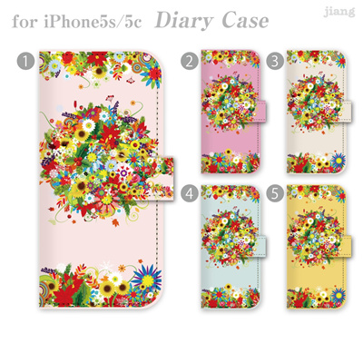 iPhone6 4.7inch ダイアリーケース 手帳型 ケース カバー スマホケース ジアン jiang かわいい おしゃれ きれい 花柄 06-ip6-ds0081の画像