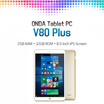 Onda V80 Plus Dual OS Windows10 Andoroid グレー色 / タブレットPC / 8インチスクリーン / インテル Z8300  / 1920x1200 解像度 / 2GB Ram /  タブレット / Micro HDMI / TFカードスロット / Micro USB