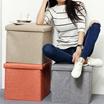 Foldable Sturdy And Elegant Storage Ottoman Stool ottoman chairSpace Saving Storage Stool Fabric Storage box bench