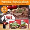1+1 Farmchef Australia Steak - Sirloin / Ribeye Steak (4 x 150g)- Free Spanish Loidana wine