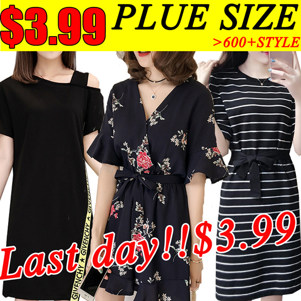 ?Last day?PLUS SIZE Summer/pants/Suit/shirt/Tops/Large size dress/Europe/Korean clothing Deals for only S$19 instead of S$0