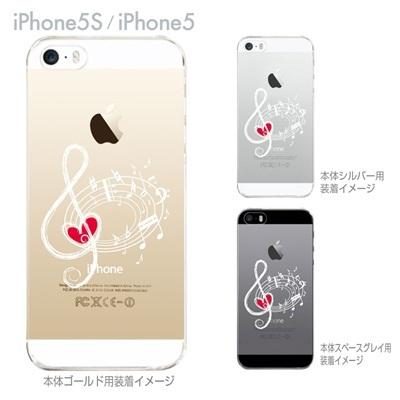 【iPhone5S】【iPhone5】【Clear Arts】【iPhone5ケース】【クリア カバー】【スマホケース】【クリアケース】【ハードケース】【着せ替え】【イラスト】【音符】 ip5-09-mu0007の画像