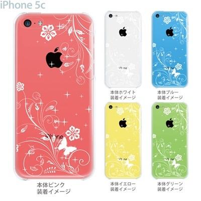 【iPhone5c】【iPhone5cケース】【iPhone5cカバー】【ケース】【カバー】【スマホケース】【クリアケース】【フラワー】【花と蝶】 22-ip5c-ca0066の画像