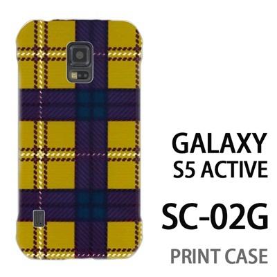 GALAXY S5 Active SC-02G 用『0908 ラインチェック 黄茶』特殊印刷ケース【 galaxy s5 active SC-02G sc02g SC02G galaxys5 ギャラクシー ギャラクシーs5 アクティブ docomo ケース プリント カバー スマホケース スマホカバー】の画像