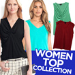 BRANDED Blouse Tank Top SILK V-NECK_3 Basic Color_High Quality_Comfortable Material_Casual Look / Top / Tank Top / Pakaian Wanita / Busana Wanita / Dress / Blouse