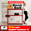 ◆Super Sale Free Gift◆Boltless Shelf Rack W60/W80/W120 cm 3color 2~5 Layers / Shelving /2 5-tier / adjustable Storage / Monsterrack / living room /all steel / free gift- rubber hammer / kitchen