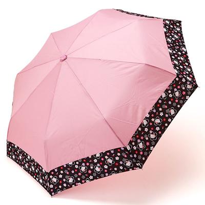 【即納】KT503浮き出る折りたたみ和傘50センチ(折畳)キャラクター傘【ハローキティー・プレゼント・傘・雨具・新学期・アンブレラ】