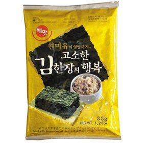 【韓国食品・韓国のり】■海苔一枚の幸せ(全長ヘマッ)玄米油使用■の画像