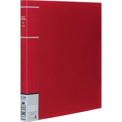 ナカバヤシPP製ポケットアルバムフォトグラフィリアL判3段6面ポケットレッドPH6L-1024-RE399268H