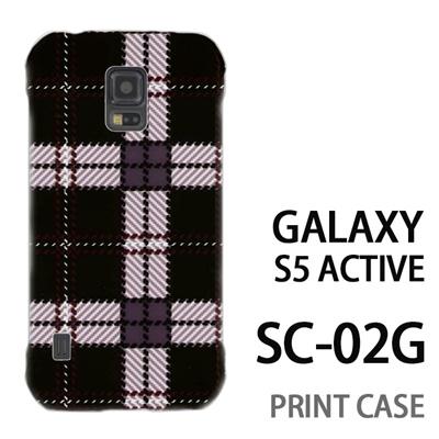 GALAXY S5 Active SC-02G 用『0908 ラインチェック 黒白』特殊印刷ケース【 galaxy s5 active SC-02G sc02g SC02G galaxys5 ギャラクシー ギャラクシーs5 アクティブ docomo ケース プリント カバー スマホケース スマホカバー】の画像