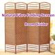 【Natural Fibre Folding Screen/Room Divider/Partition】most affordable in market!