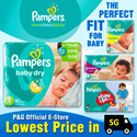 [PnG] Pampers Baby Dry - Give your baby UP TO 12 HOURS of skin dryness or up to 7 wettings with Magic Gel Soft Touch-Dry Layer and soft stretchy sides.