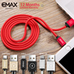 [ePlaza]eMax Maxcable Nylon Date Cable for Lightning / Microusb / Type-C 1.2M / 2M / 3M