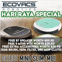 ⏰ ECOVACS Vacuum + Mop Cleaner Robot / Deebot Mini/Slim/M81/ ★Free Warranty/ + Remote