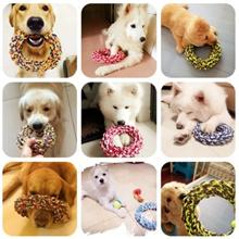 一口耐性綿のロープのおもちゃ大型犬の首輪をクリーニング綿ロープのおもちゃ、ペット用品、環境に優しいゴールデンレトリバー大型犬のおもちゃ大臼歯