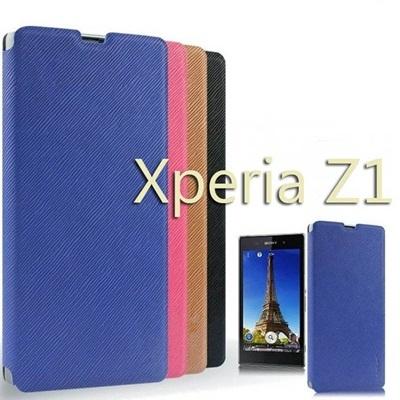 docomo/au Xperia Z1 SO-01F/SOL23 ケース/PUレザーケース手帳型 docomo/au【Xperia Z1】PUDiNi サフィアーノ革 フリップ ケースボタンなしの画像