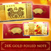 READYSTOCK + FREE GIFT**Year Of Rooster**24K GOLD Foil Bank Note Design Collectible. CNY ANGBAO! Red