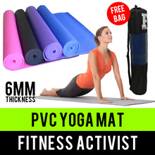 ⏰💪★★Fitness Activist★★PVC Yoga Mat★★Singapore Seller★★Fast Delivery★★