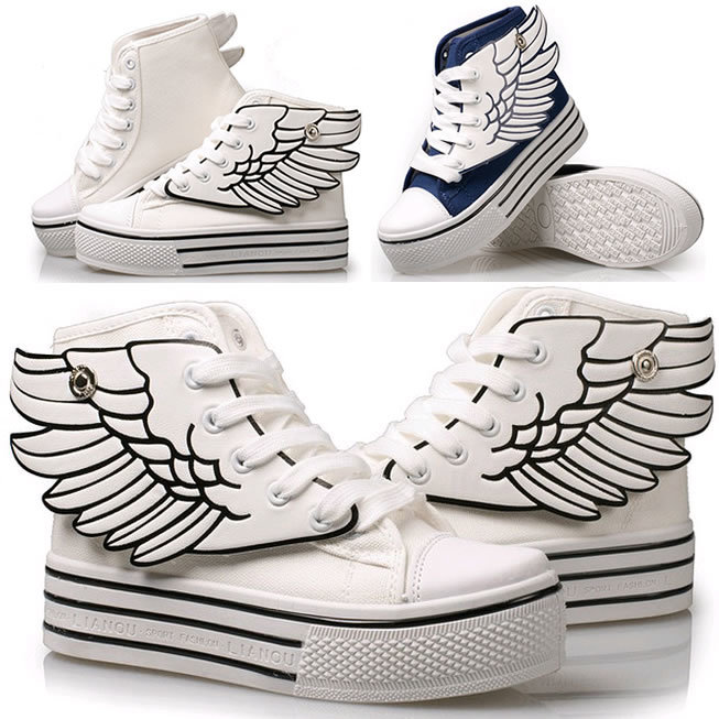 C190激安 天使の翼 厚底スニーカー 靴 運動靴 シューズ ブーツ キャンバスシューズ 靴 レディース メンズ カジュアルスニーカー 個性な靴EXO/BIGBANG/BTS