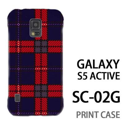 GALAXY S5 Active SC-02G 用『0908 ラインチェック 青赤』特殊印刷ケース【 galaxy s5 active SC-02G sc02g SC02G galaxys5 ギャラクシー ギャラクシーs5 アクティブ docomo ケース プリント カバー スマホケース スマホカバー】の画像