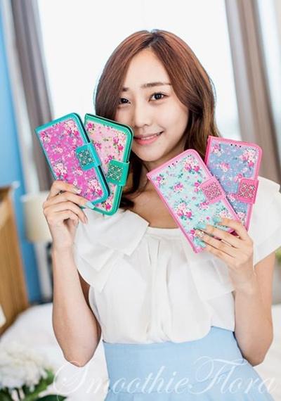 iPhone 6 Plus Tongkeun Pocket The SmoothieFlora Diary( ダイアリータイプ レザーケース)【レビューを書いてメール便送料無料 】の画像