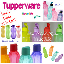 ★Authentic Tupperware★ Aquasafe Eco Fliptop Water Bottle*BPA Free* Best Present/Gift/School Bag/Birthday/Teachers Day/Bicycle/Goodie Bag/Corporate/Conference/CompanyDinner/Doorgift!Lifetime Warranty