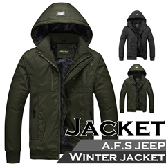 ▶A.F.S Jeep Air force Winter Jacket for Men◀ GAC-Thick Version Winter Coat - Stylish Men's Winter Fashion / Overcoat