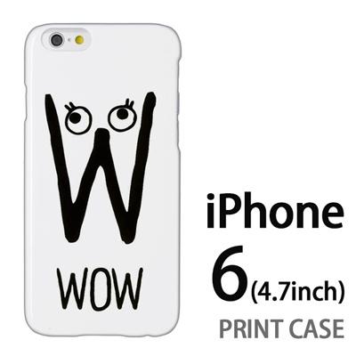 iPhone6 (4.7インチ) 用『0623 「W」』特殊印刷ケース【 iphone6 iphone アイフォン アイフォン6 au docomo softbank Apple ケース プリント カバー スマホケース スマホカバー 】の画像