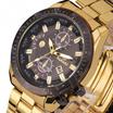 高級メンズブラックダイヤルゴールドステンレススチールカレンダー日付クォーツアナログスポーツ腕時計