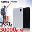 🌟Remax PRODA NOTE 30000mAh🌟HXR 20000mAh GENAI 10000mAh Powerbank of big capacity and stability built-in 4 USB port 2 USB port with 2.1A fast charging leather exquisite appearance