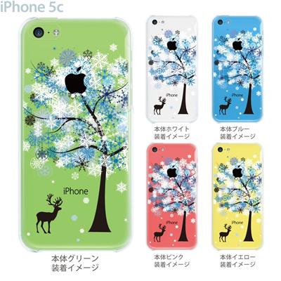 【iPhone5c】【iPhone5cケース】【iPhone5cカバー】【ケース】【カバー】【スマホケース】【クリアケース】【クリアーアーツ】【雪花とシカ】 22-ip5c-ca0090の画像