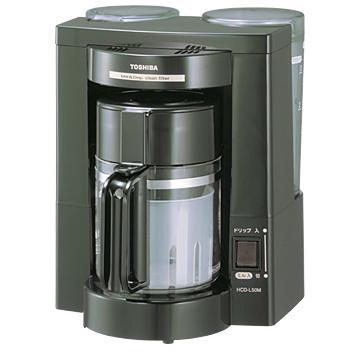東芝TOSHIBAコーヒーメーカー(ミル付き)(ブラック)HCD-L50MHCDL50M