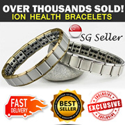 ★uShop SG★Special Health is Wealth Sale!!★Premium Stainless Steel Germanium Ion Balance Health Bracelet Series: Helps Relieve Stress Fatigue. ★Choose from 14 Designs.★