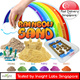 Rainbow Sand - 1KG Sand Per Pack (Free Gifts For 2KG up) SINGAPORE TEST REPORT - Color Sand Available NOW! - Magic Sand that does not leave a mess! ( Kinetic Type Sand  ) [GB]