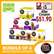 ◄ NESCAFE DOLCE GUSTO ► Bundle of 6 ★ Coffee Capsules Box of 8/16 ★ Fresh Stock