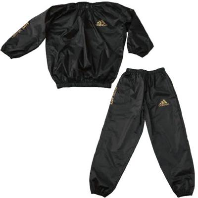 アディダス(adidas) Sauna suit/サウナスーツ Japan size ADISS01J-BK ブラック 【トレーニングウエア メンズ ダイエット ブレーカー】の画像