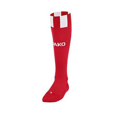 ヤコ(JAKO) ストッキング 3810 レッド/ホワイト 25-27cm 【サッカー ソックス】の画像