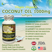 Earth's Creation Virgin Organic Coconut Oil 1000mg ♡ Burn Belly Fat Fast ♡ 90's Softgels ♡ USA