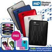 [best seller]hard drives HDD WD PASPORT_1TB 2TB 3TB_free pocket belt or mouse or powerbank_promo paling murah_stok terbatas_grab it fast !!!!