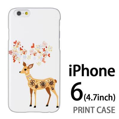 iPhone6 (4.7インチ) 用『0624 幻想的な鹿』特殊印刷ケース【 iphone6 iphone アイフォン アイフォン6 au docomo softbank Apple ケース プリント カバー スマホケース スマホカバー 】の画像