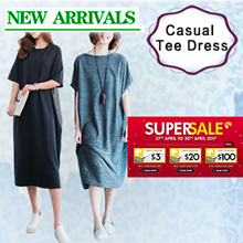 【27/4 BIG PROMO】Casual Tee Dress~ For Relaxing Days