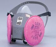【クリックで詳細表示】防塵防毒マスク 2-1051-01 6000DDSR/2091-RL3