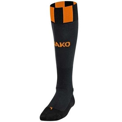ヤコ(JAKO) ストッキング 3810 ブラック/ネオンオレンジ 25-27cm 【サッカー ソックス】の画像
