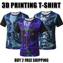 2017 Mens Fashion 3D Creative printing T-shirt