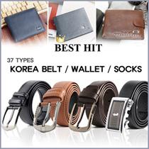 ★ promotion  ★ KOREA PREMIUM Mens Fashion leather belt (Brown/Black) / WALLET / SOCK /