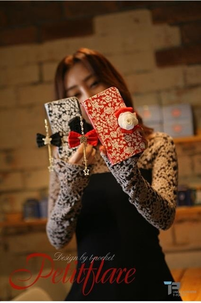 【iPhone/Galaxy/Galaxy Note ケース】Tongkeun Pocket The PetitFlare Diary(ダイアリータイプ レザーケース)オリジナル ハンドメイド【レビューを書いてネコポス送料無料】の画像