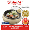 [TAKAHI] Electric Multi-Function Cooker (Capacity: 3L)(Model: 1400)(Steamboat)