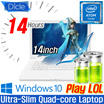 [DICLE] $$NEW Dicle LAPTOP / Windows10 / Intel Z8300F quad core / 14inch laptop / slim laptop / 14 hour laptop / Intel HD Graphics / laptops / notebook